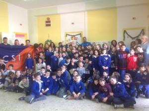 Andrea Di Marcello alla scuola Torrione de L'Aquila