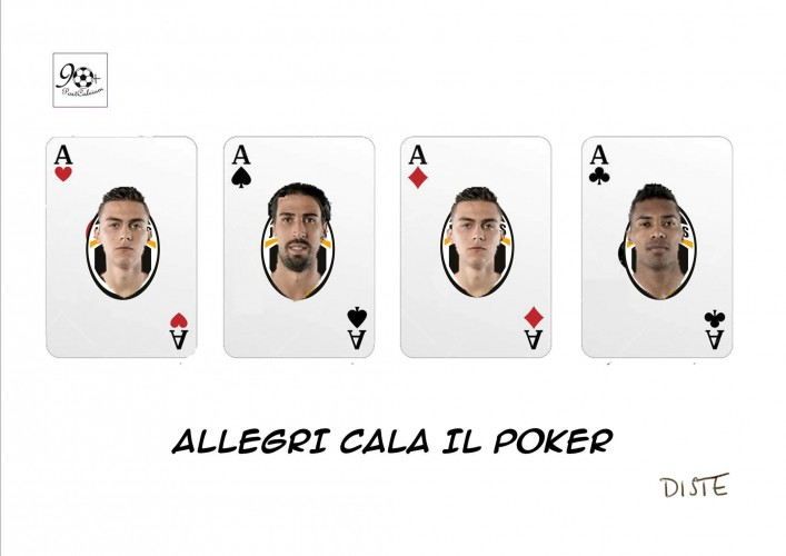 Il poker di Allegri